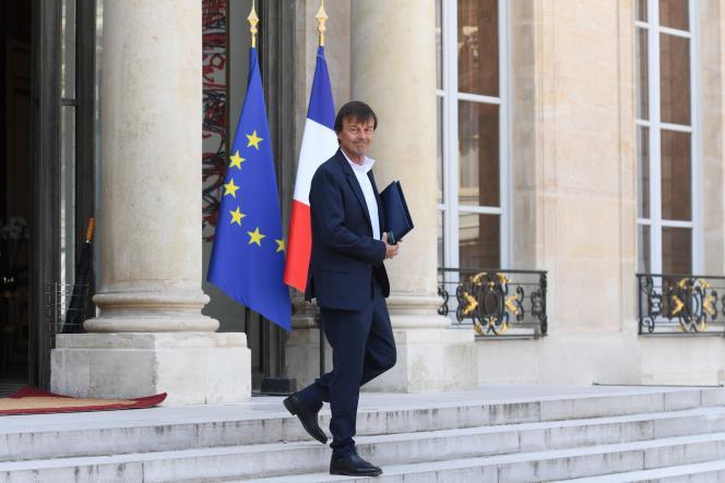 Le ministre de la transition écologique, Nicolas Hulot, le 9mai à l'Elysée.