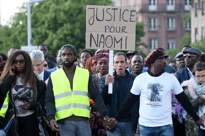 Marche blanche en mémoire de Naomi Musenga, le 16 mai à Strasbourg.