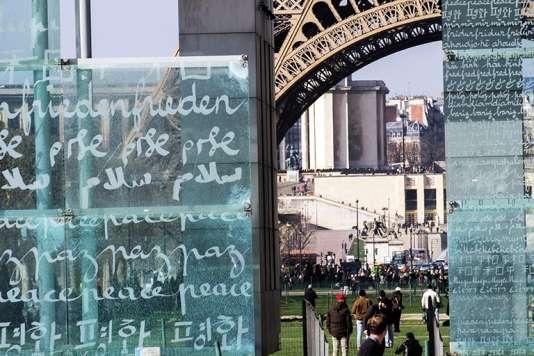 «Le Mur pour la paix» à Paris.