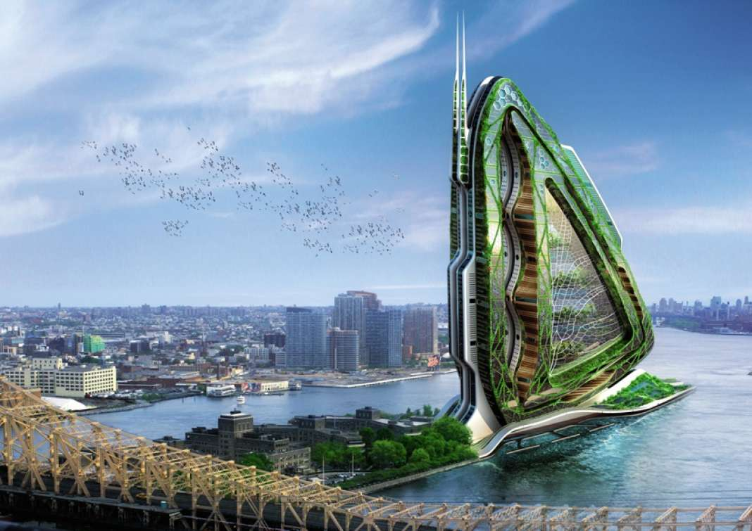 Le projet pour New York de fermes verticales Dragonfly est inspiré d'une aile de libellule.
