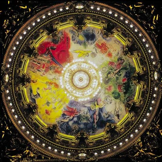 Plafond de l'Opéra Garnier peint par Chagall.