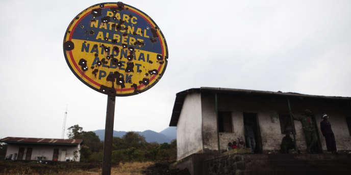 A l'entrée du parc national des Virunga, dans l'est de la RDC, en 2010.