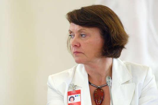 Virginija Langbakk, lors d'une conférence sur les femmes et la démocratie, à Vilnius (Lituanie) le 30 juin 2011.