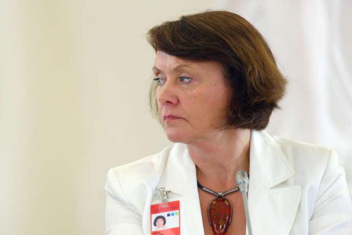 Virginija Langbakk, directrice de l'Institut européen pour l'égalité des genres, lors d'une conférence sur les femmes et la démocratie, à Vilnius (Lituanie) le 30 juin 2011.