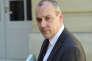 Laurent Berger, secrétaire général de la CFDT, à Matignon, le 7 mai, lorsque le premier ministre Edouard Philippe a reçu les organisations syndicales et les associations d'usagers de la SNCF.