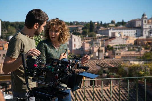 Valeria Golino sur le tournage de son deuxième long-métrage,« Euforia».