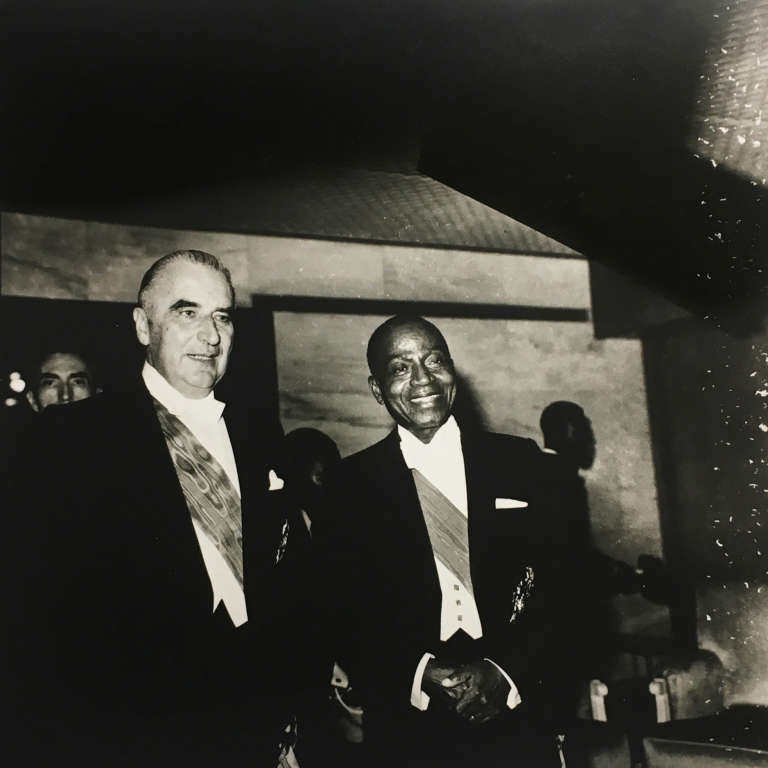 Georges Pompidou et Félix Houphouët-Boigny en 1971, en Côte d'Ivoire.