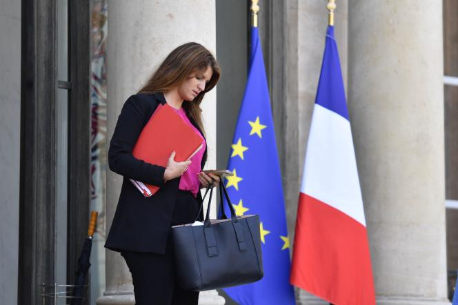 Marlène Schiappa à la sortie du conseil des ministres, le 16 mai 2018 à Paris.