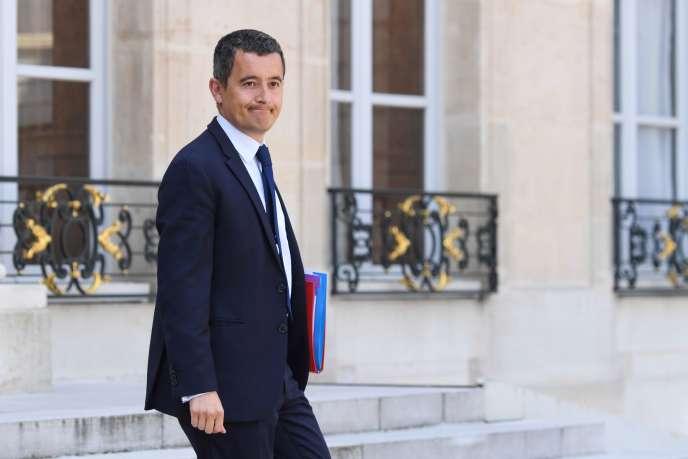 Le ministre des comptes publics, Gérald Darmanin à sa sortie du conseil des ministres à l'Elysée, le 9 mai.