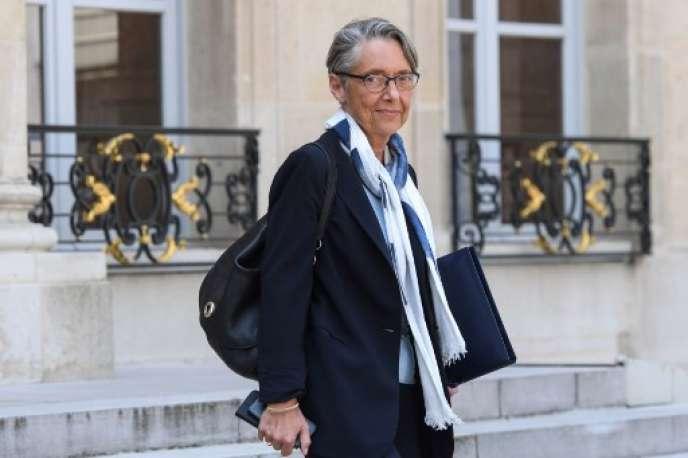 La ministre des transports, Elisabeth Borne, quitte l'Elysée, le 9 mai.