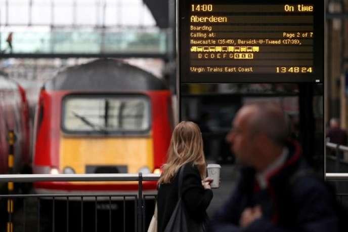 Gare de Londres, en mai.