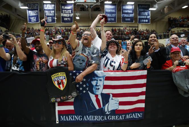 Des supporteurs de Donald Trump durant son meeting à Elkhart (Indiana), le 10 mai.