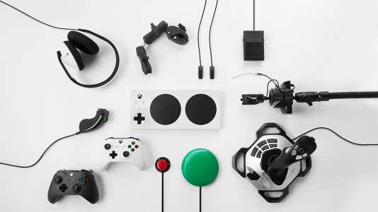 La manette adaptative Xbox est presque entièrement paramétrable.