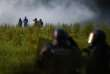Manifestatnts de la ZAD face aux forces de l'ordre sur le site de la ZAD de Notre-dame-des Landes, le 17 mai.