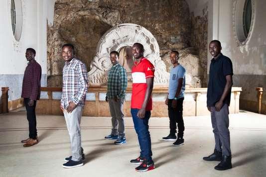 Le groupe Soudan Célestins Music, à la Source des Célestins, à Vichy, le 29 juin 2017.