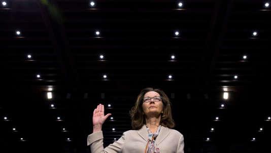 Gina Haspel, devant la commission sénatoriale du renseignement, chargée de valider sa candidature, le 9 mai à Washington.