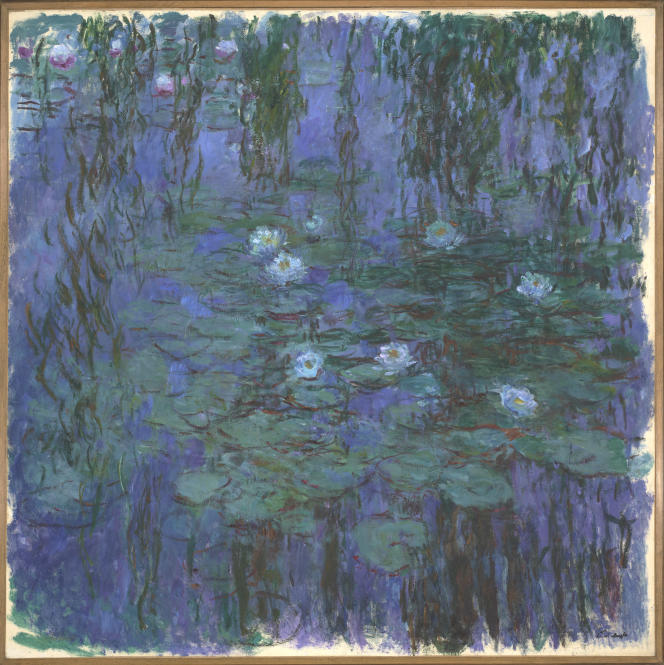 « Les Nymphéas bleus» (1916-1919), huile sur toile de Claude Monet, Musée d'Orsay.