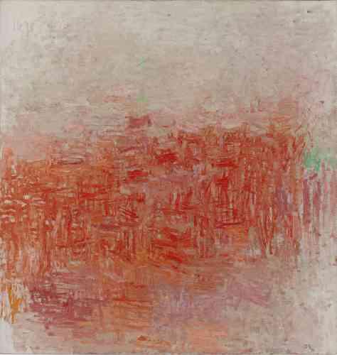 C'est au cours d'un voyage en Europe en 1948 quePhilip Guston découvre la peinture française du XIXe siècle. Réaliste à ses débuts, sa peinture évoluera vers une forme de«lyrisme» déjà utilisée par Claude Monet dans sa dernière série.