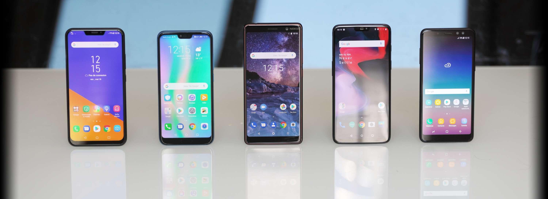 comparatif smartphones 450 euros oneplus samsung nokia honor asus