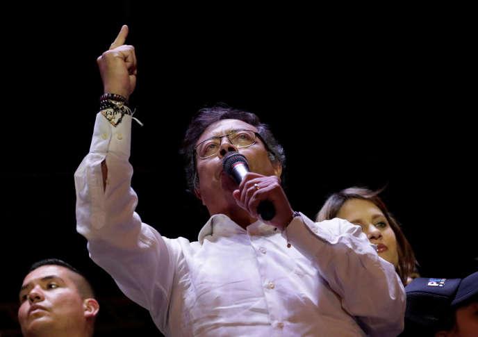 Gustavo Petro à Bogota, le 17 mai.