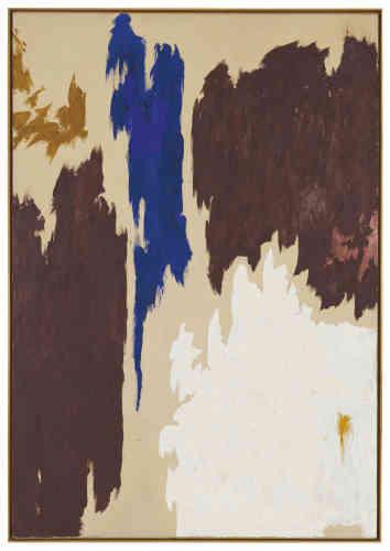 De grands formats et de larges aplats irréguliers, presque aléatoires, dominés par une même couleur: la peinture deClyfford Still s'inspire des «Nymphéas», de Claude Monet, qu'il découvre en 1925 au Metropolitan Museum of Art lors d'un séjour à New York.