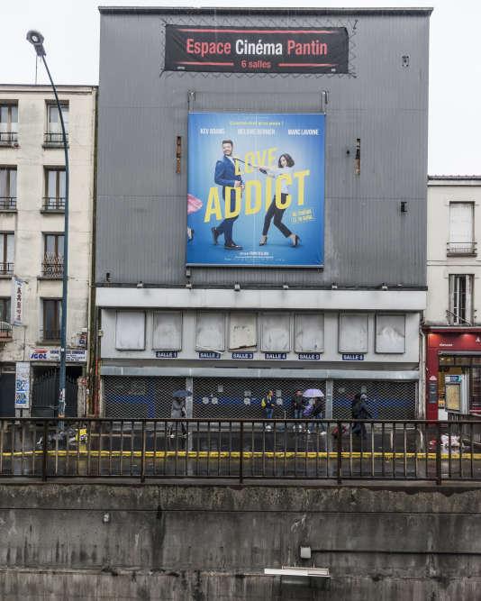 L'Espace Cinéma, fermé depuis 2010, à Pantin.