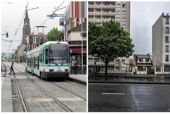 Place du 8-Mai-1945, à La Courneuve, et avenue Paul-Vaillant-Couturier, au Bourget. Le rapport parlementaire révèle une rupture d'égalité républicaine.