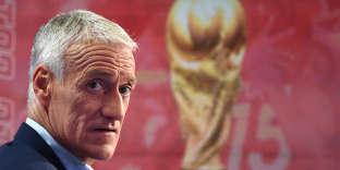Didier Deschamps annonçant sa sélection pour la Coupe du monde de football 2018, sur le plateau de TF1, le 17 mai.