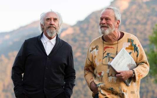 Jonathan Pryce et Terry Gilliam sur le tournage de«L'Homme qui tua Don Quichotte».