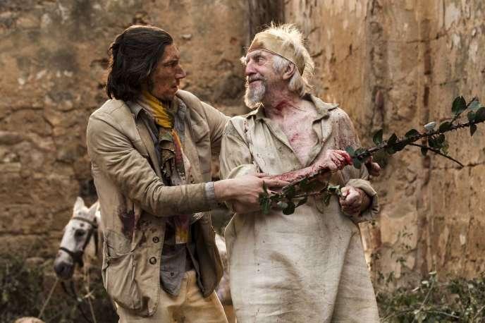 Adam Driver et Jonathan Pryce dans«L'Homme qui tua Don Quichotte», de Terry Gilliam.
