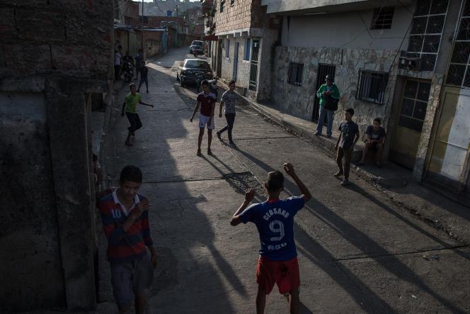 Le barrio de Petare à Caracas, le 18 mai 2018.