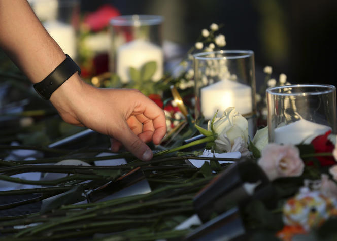 Hommage aux victimes de la fusillade au lycée de Santa Fe (Texas), le 18 mai.