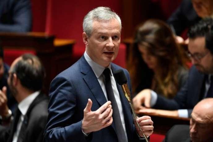 Bruno Le Maire, ministe de l'économie, le 28 mars à l'Assemblée nationale.
