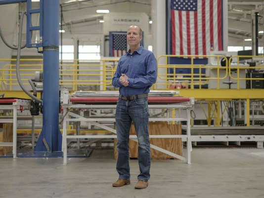 George Tunis, le directeur de Hardwire, dans son usine de Pocomoke (Maryland).