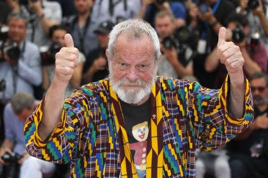 Le réalisateur Terry Gilliam est à Cannes pour présenter en clôture et hors compétition son film «L'Homme qui tua Don Quichotte», le 19 mai 2018.