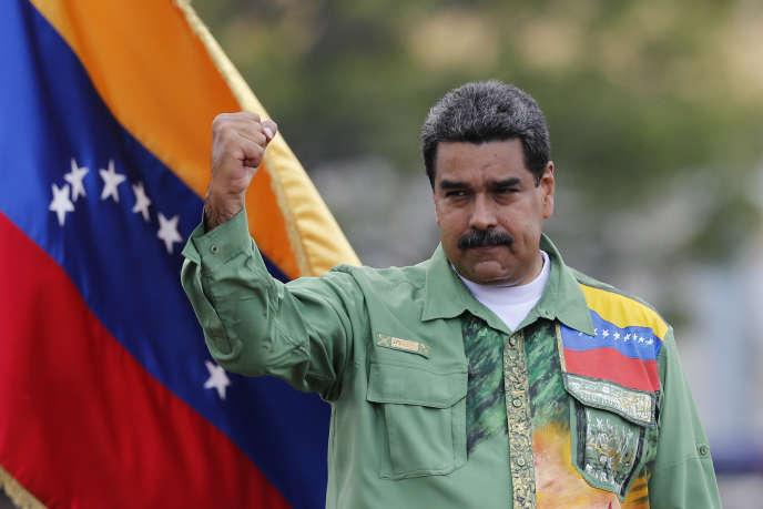 Nicolas Maduro, le 17 mai àCaracas, lors de son ultime meeting de campagne.