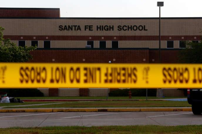 Le lycée de Santa Fe (Texas) où a eu lieu la 133e fusillade de masse aux Etats-Unis en 2018.