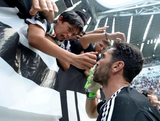 Gianluigi Buffon avant son dernier match avec la Juventus.