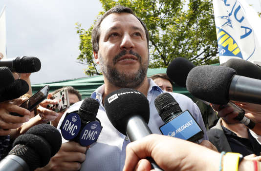 Le chef de file de la Ligue Matteo Salvini le 19 mai.