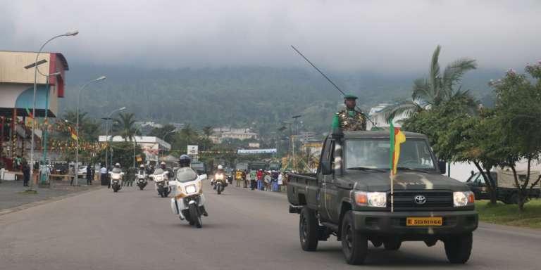 Défilé militaire à Buea, au Cameroun, le 20mai 2018.