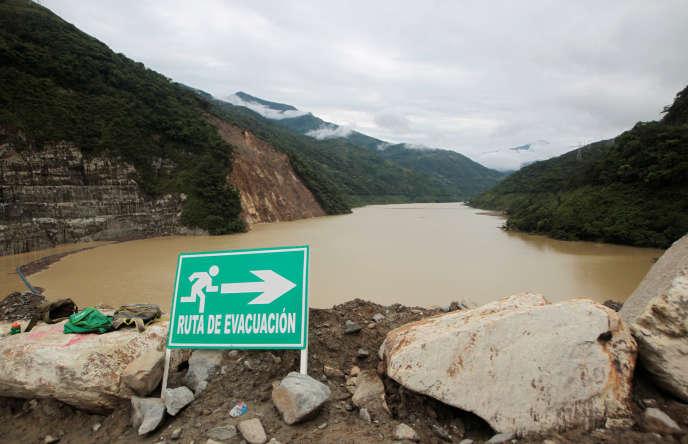 Vue du barrage d'Hidroituango (Colombie), le 20 mai.