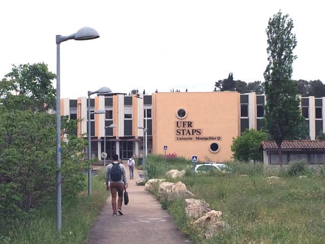 L'entrée de l'UFR deStaps, à Montpellier