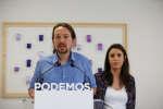 Pablo Iglesias, leader de l'extrême gauche espagnole, le 19 mai 2018, ) Madrid.
