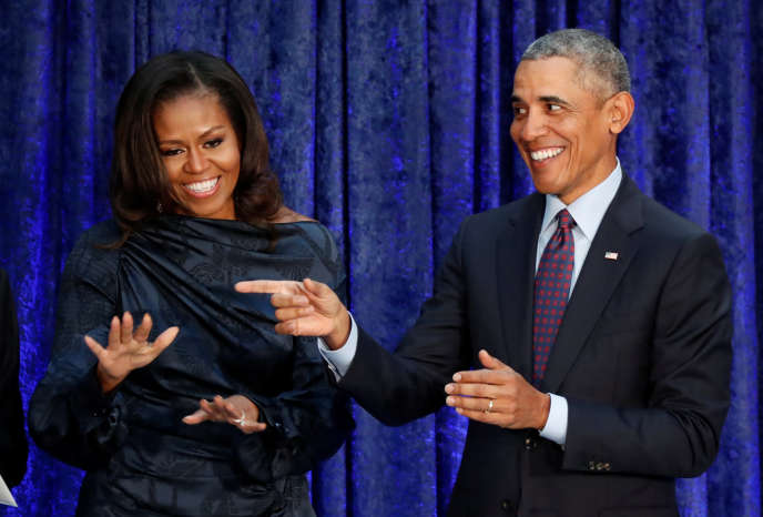Michelle et Barack Obama, le 12 février, à Washington.