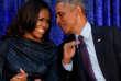 L'ancien président des Etats-Unis Barack Obama et son épouse Michelle à Washington, le 12 février.