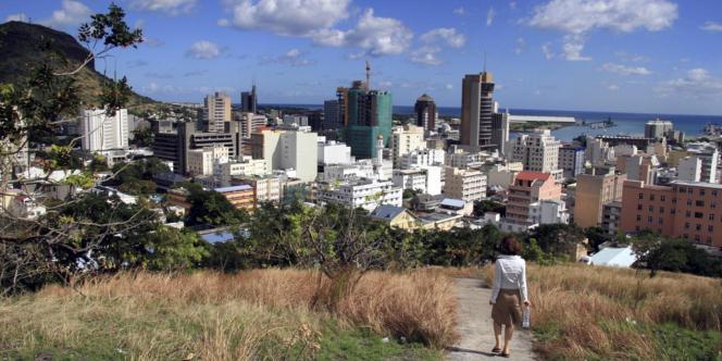 Port-Louis, la capitale mauricienne,en 2008.