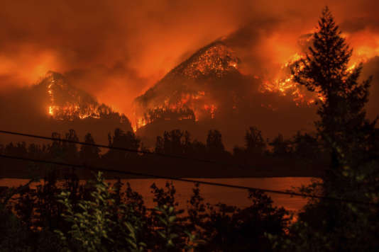 L'incendie des gorges du Columbia, dans l'Oregon, le 4 septembre 2017.