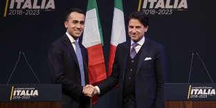 Giuseppe Conte et le chef du M5S, Luigi Di Maio, en mars.
