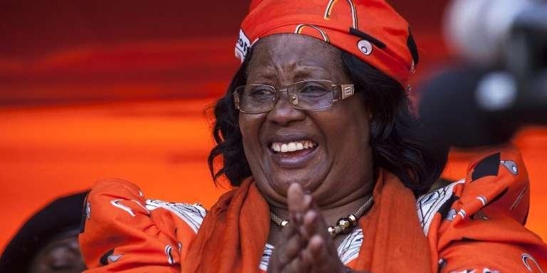 L'ancienne présidente malawite Joyce Banda lors d'un meeting du Parti du peuple dans sa ville natale, Zomba, le 29avril 2018.