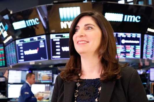 Stacey Cunningham au NYSE, le 22 mai 2018.